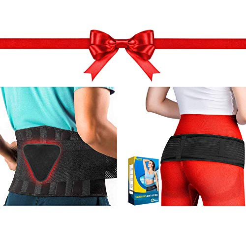 FEATOL Back Brace Support Belt and SI Joint Belt for Women and Men