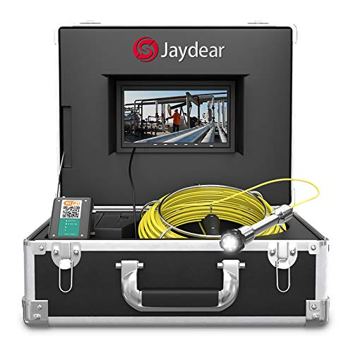 "Pipe Inspection Camera,100ft/30M Sewer Camera 7""HD Monitor Wireless..."