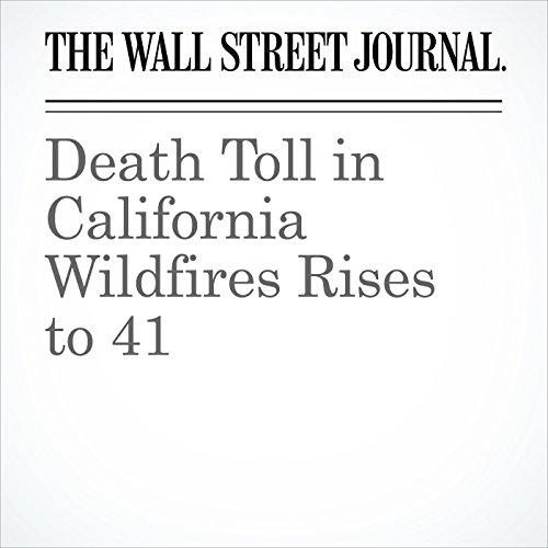 Death Toll in California Wildfires Rises to 41 copertina