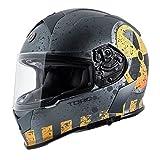 Torc T1417NK26 Full Face Mako Helmet, 1, Flat Grey, XX-Large