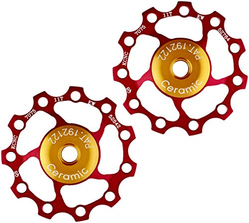 KCNC Jockey Wheel Ceramic Bearing 11 Zähne Paar red 2021 Lager