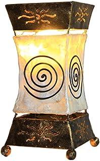 Lámpara decorativa Xenia Cream, lámpara de mesa de metal y Resin, Estado de Ánimo lámpara, Altura 30 centímetros