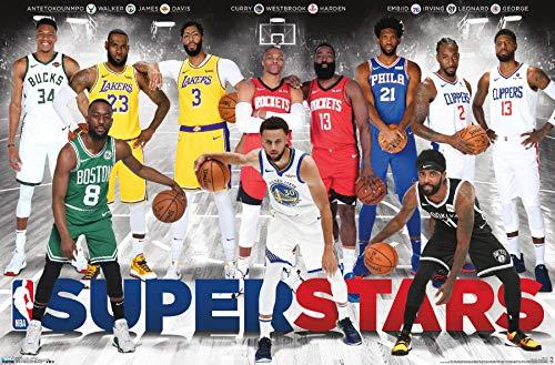 Trends International NBA League - Superstars 2019 - Poster da parete, 56,8 x 86,4 cm, versione senza cornice