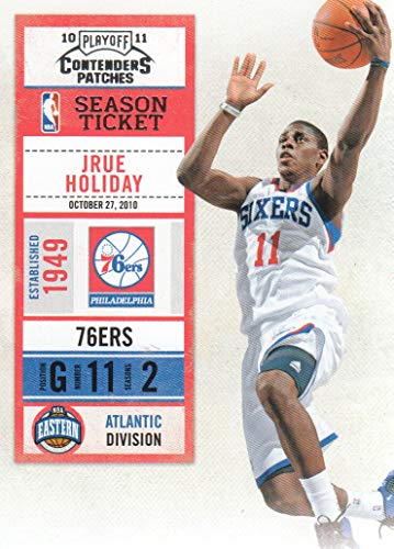 2010-11 Playoff Contenders Patches NBA #62 Jrue Holiday Philadelphia 76ers