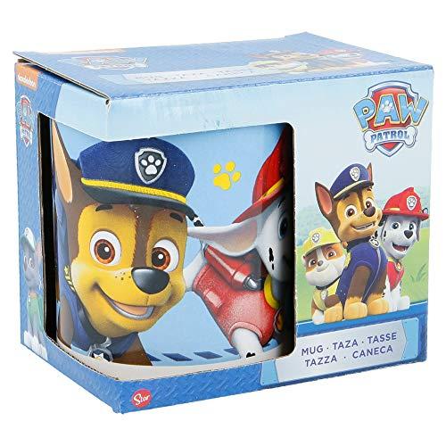 Paw Patrol Tasse en céramique 325 ml dans une boîte cadeau Motif Pat' Patrouille 'Boy Icons' (76726) Noir