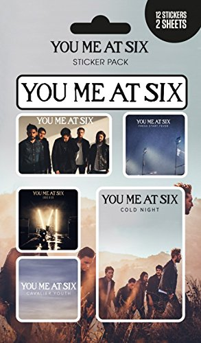 1art1 You Me at Six Paquet De Stickers - Mix, 12 Stickers (15 x 10 cm)