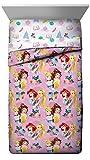 Jay Franco Disney Princess Sassy Full Comforter - Super Soft Kids Reversible Bedding Features Cinderella & Rapunzel - Fade Resistant Polyester Microfiber Fill (Official Disney Product)