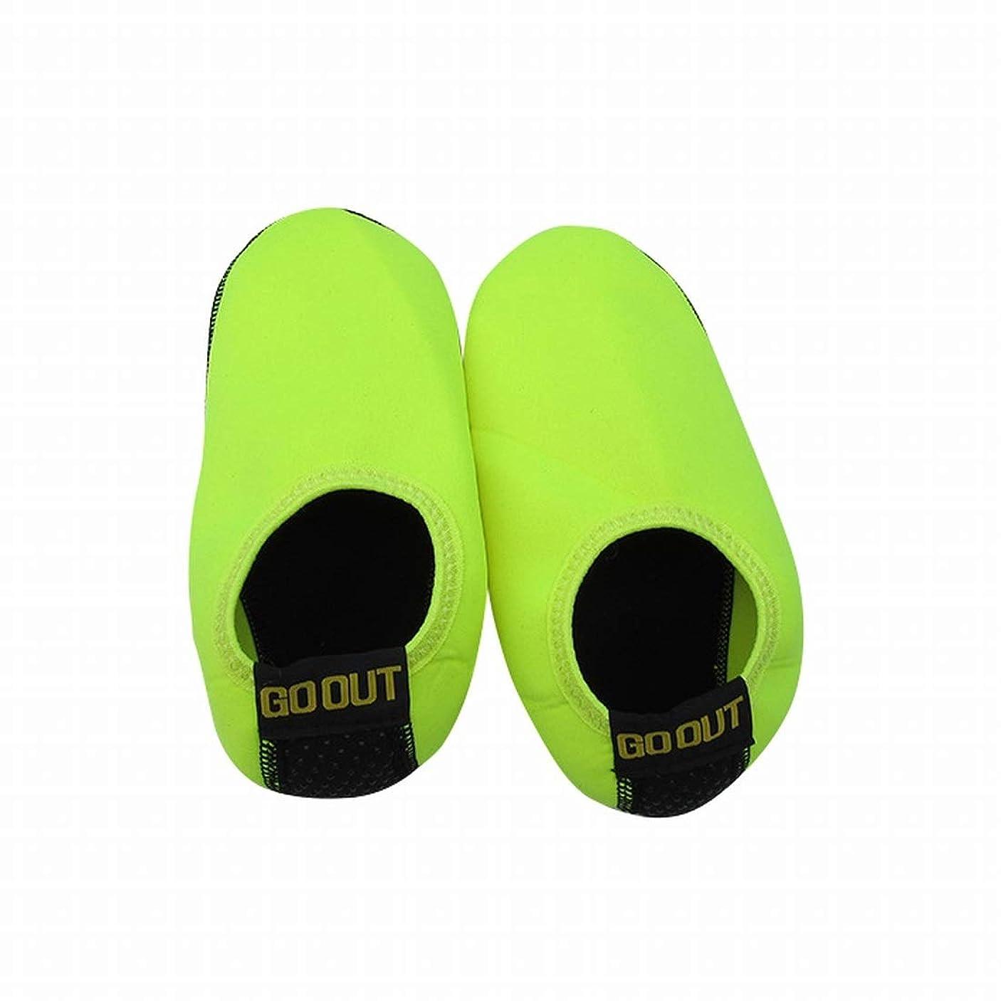 歩くストリーム脅威Kainuoo ビーチソックスシューズシュノーケリングシューズ機器新しい男性と女性のダイビングソックスシュノーケリングソックス水泳ソックス (Color : Light green, Size : Child- M- 4-6- years old)
