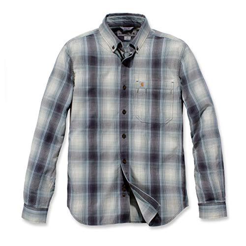Carhartt . 104331.BLS.S005 Essential Plaid Langarmhemd für Herren, Blaugrün, Größe M