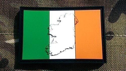 Gestanzte Irland Flagge Airsoft Klett PVC Patch