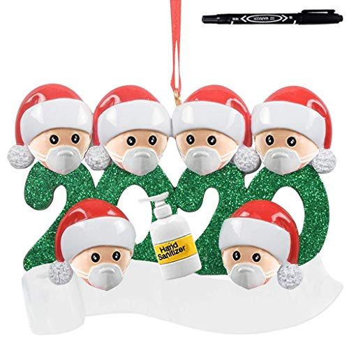 2020 Quarantine Christmas Ornaments, Personalized Survived Family Of Ornament Christmas Holiday Decorations with 2ML Pen