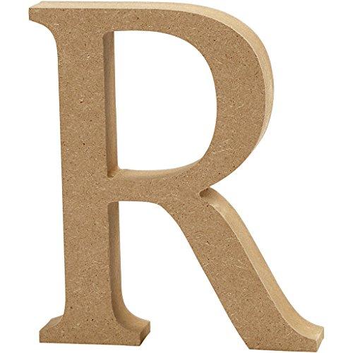 Create Crafts MDF Letter (13cm H, 2cm Thick) -R, Wood, Brown, 11 x 2 x 13 cm