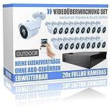 Set de videovigilancia Profesional con 20 cámaras HD Dome con visión Nocturna, Disco Duro de 16000 GB