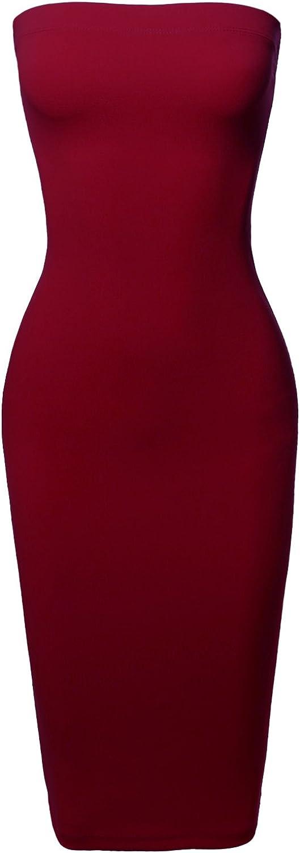 Women's Sexy Scuba Crepe Tube Outstanding Top Body-Con Max 47% OFF Tight Midi Dress Fit
