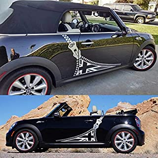 ZHANGDAN 2 stücke Union Jack Auto Styling Tür Seite Körper Aufkleber Aufkleber Racing Stripes Zubehör Für Mini Cooper Countryman R55 R56 R60 F55 F56 F60