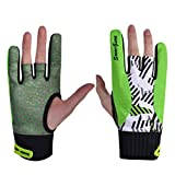 Exceart Bowling Gloves Semi Finger Sport Gloves 1 Pair Silicone Anti-Slip Elastic Breathable Wrist Glove Support for Women Men Bowling Party Game