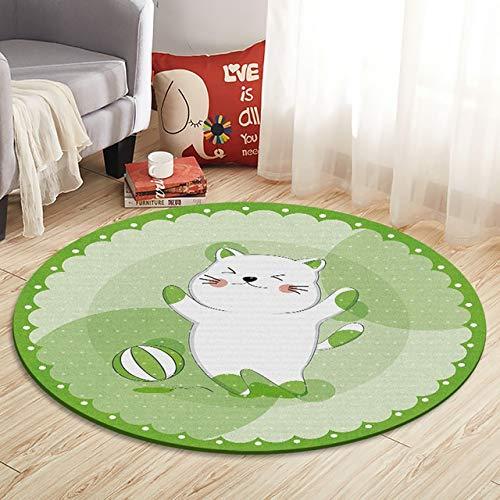 RUIHUAN Teppich Startseite Karikatur-Kaninchen gedruckte Runde Teppich for Wohnzimmer-Computer Stuhl Vorleger Kinder-Spiel-Zelt Bodenmatte Garderobe Teppich weich (Color : 9, Size : 60cm Diameter)