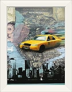 CANVAS ON DEMAND I Love NY White Framed Art Print, 15
