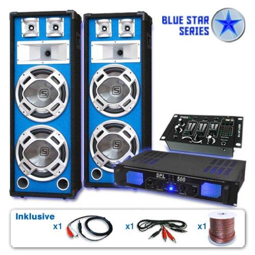Unbekannt Blue Star Series PA Set Bassveteran USB 1200 Watt