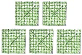 Ghlevo 5 PCS Césped Artificial Turf Artificial Sintético Plástico Césped Jardín Artificial Hierba para paisajismo al Aire Libre Decoración de Piso Interior 25 x 25 cm (denso) (Color : Sparse)