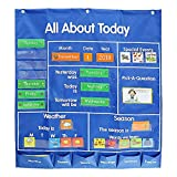 Missine ラーニングリソーシズ 壁掛け ポケットチャート スタンダードナイロン製教室カレンダーポケットチャート