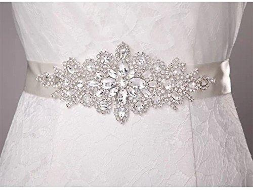 Trlyc - Cinturón para vestido de novia, cinturón de perlas, cinturón de diamantes de imitación, cinturón de cristal, faja para boda