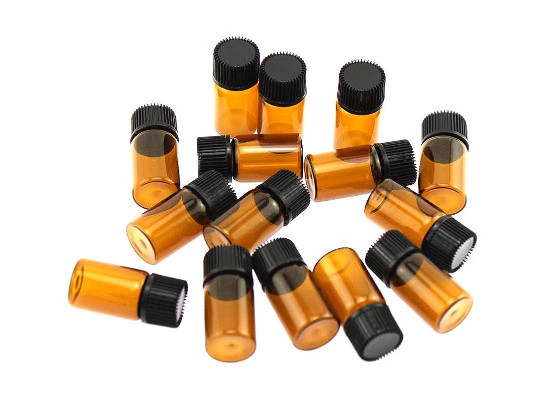 学んだ困難剛性Olive-G アロマオイル エッセンシャルオイル 保存 小分け用 ガラスボトル 遮光タイプ 15本セット ブラウン