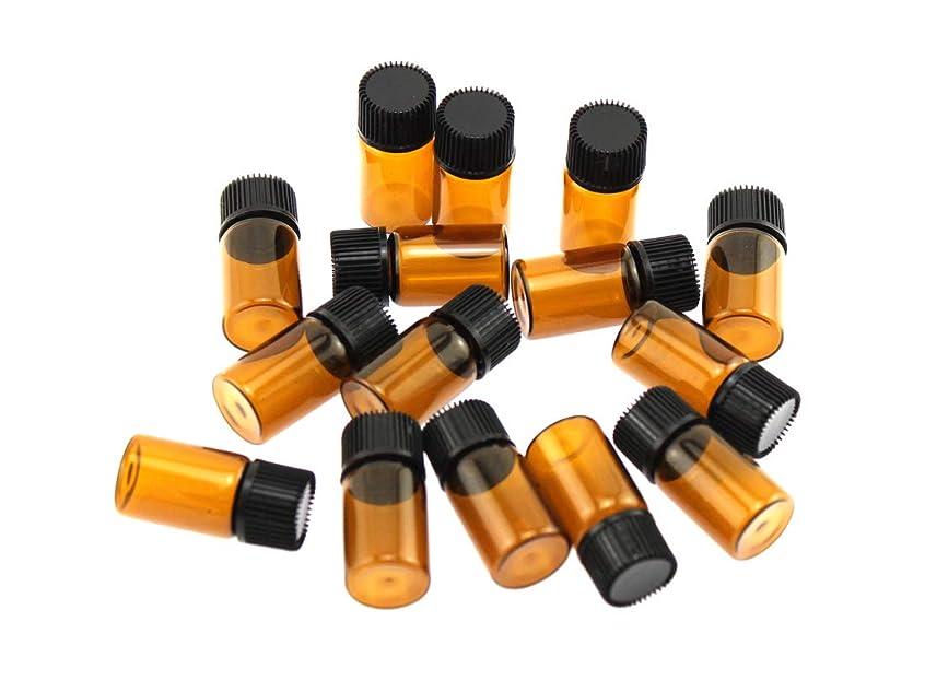 機関エスカレーター書き込みOlive-G アロマオイル エッセンシャルオイル 保存 小分け用 ガラスボトル 遮光タイプ 15本セット ブラウン
