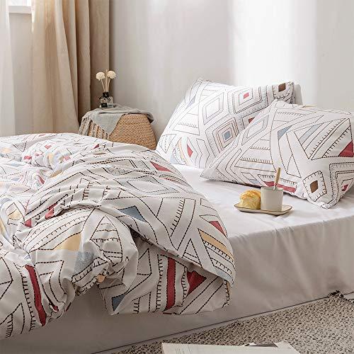 Cupocupa Juego de ropa de cama boho, 200 x 220, funda de edredón cálida y transpirable, con cremallera y 2 fundas de almohada de 80 x 80 cm (wiki-220240 – 3 piezas)