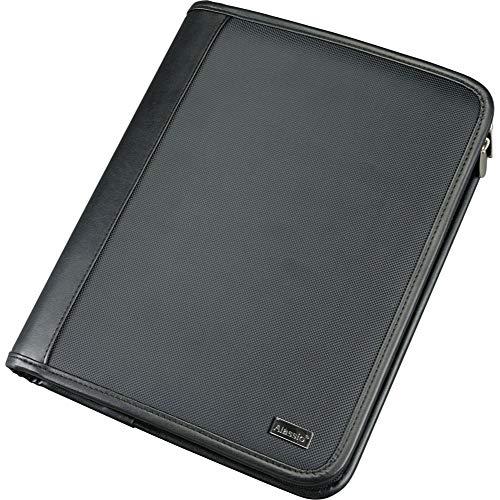 Alassio 30111 - Cartella Orgamappe PIEMONTE in formato DIN A5, in poliestere, documenti in nero, cartellina ca. 30 x 24,5 x 4 cm, con supporto per tablet