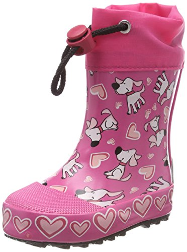 Beck Mädchen Hunde Gummistiefel, Pink (Pink 06), 19 EU