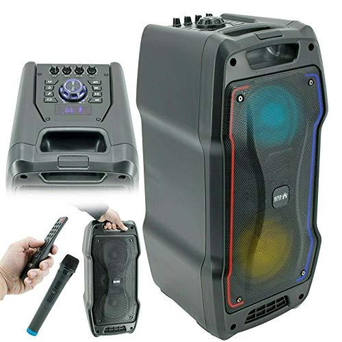EMB PKL1700 800 Watt Karaoke Rechargeable Portable Speaker w/Mic, USB, SD, Bluetooth, Remote