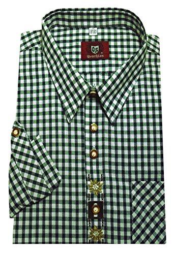 Unbekannt Trachtenhemd weiß-grün XXL