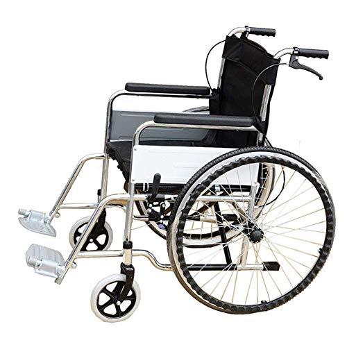 Lunzi Leichter faltender Rollstuhl, der medizinisch, Rollstuhl-untauglicher Roller-faltender Überzug-Toilette-tragbarer Rollstuhl-Weinlese-Roller-Rollstuhl fährt