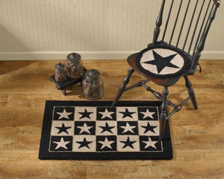 entrega de rayos negro Star Hooked Chair Pad by Park Designs Designs Designs  ¡No dudes! ¡Compra ahora!