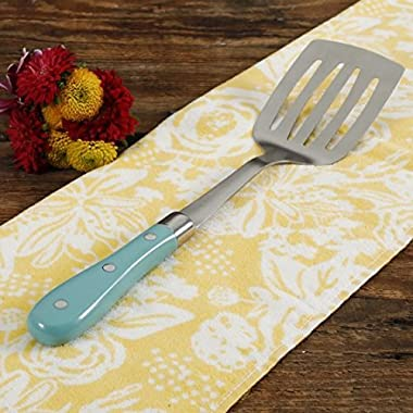 The Pioneer Woman Frontier Collection Teal 13-Inch Slotted Spatula