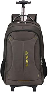 KTYXDE Travel Bag Backpack Student Bag Multi-Function Backpack Business Travel Trolley Bag Large Capacity Men and Women Trolley Backpack (Color : Brown, Size : 54x22x32cm)
