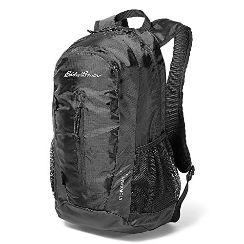 Eddie Bauer Unisex-Adult Stowaway Packable 20L Daypack, Onyx Regular ONE Size