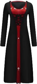 ESAILQ Abito di Halloween Abito Donna Invernale Abito Invernali Abiti Vintage Cerimonia Vestito Medievale Dresses