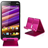 Slabo Handyhalterung für Wiko Jimmy Handy Smartphone Halterung Aluminium - PINK