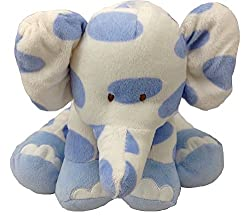 "Floppy Spotted 12"" Blue Elephant"