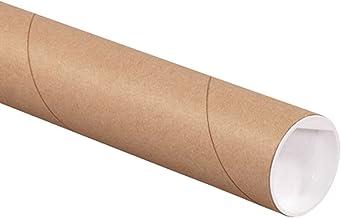 "Aviditi P2012K Mailing Tubes with Caps, 2"" x 12"", Kraft (Pack of 50)"