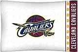 NBA Cleveland Cavaliers Micro Fiber Pillow Cases, Standard, White