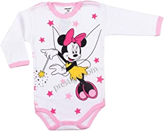 Plami Baby Strampler Minnie Mouse Langarm 100% Baumwolle Body Frühling