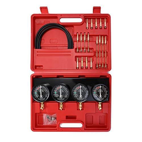 Tragbare Kraftstoff-Vakuum-Vergaser-Synchronisierer Set 4-Messgeräte-Werkzeugkit für Motorrad-Auto Universal-Werkzeugkits für Auto-Reparatur-Tool (Color : Standard)