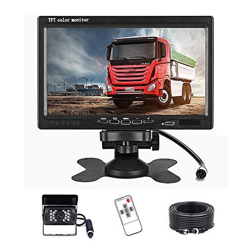 """Podofo Rückfahrkamera Set mit 7\""""-LCD-Monitor , wasserdicht IP68, 18 IR-LED, Nachtsicht-Rückfahrkamera ,17,8 cm TFT-Rückfahrkamera für Wohnmobil/Bus/Anhänger/LKW"""