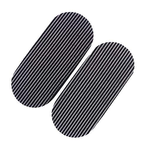 Lurrose Cheveux Bang Patch Sticker Magie Barbier Pinces à Franges Supports à Cheveux Fournitures 10PCS (Noir)