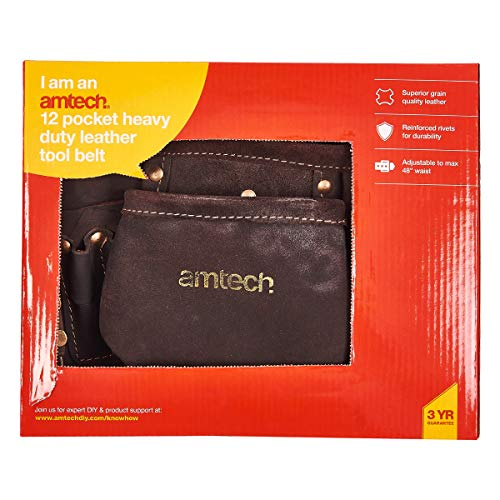 Am-Tech 12 Pocket Heavy Duty Leather Tool - 3