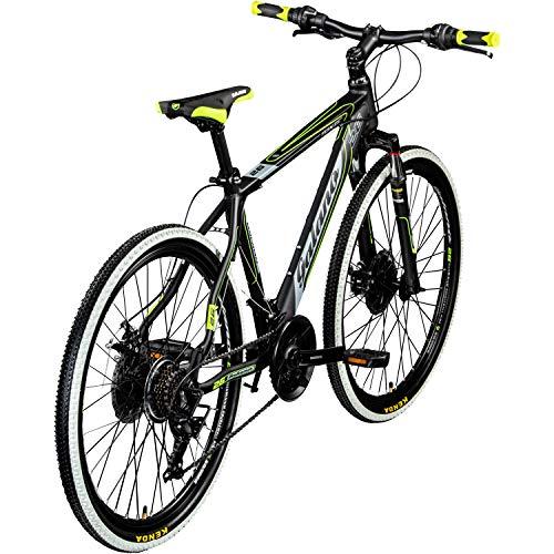 Galano 26 Zoll Toxic Mountainbike Hardtail MTB Jugendmountainbike Jugendfahrrad (schwarz/grün, 46 cm) - 3