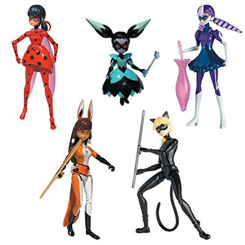 Bandai 5 Figures The Miraculous Series 84951 - 15 cm (French Version)